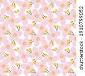 floral raster seamless... | Shutterstock . vector #1910799052