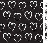 black and white heart shaped... | Shutterstock .eps vector #1910802208