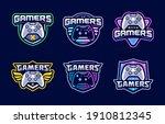 gaming console esport logo... | Shutterstock .eps vector #1910812345