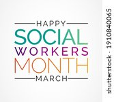 social workers month occurs... | Shutterstock .eps vector #1910840065