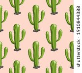 Hand Drawn Saguaro Cactus...