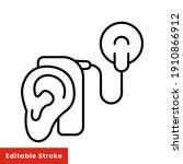 cybernetics  cochlear implant...   Shutterstock .eps vector #1910866912