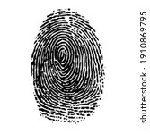 black dotted finger print...   Shutterstock .eps vector #1910869795