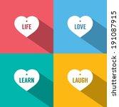 philosophy of life vector...   Shutterstock .eps vector #191087915
