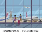 airport  tourism and travel...   Shutterstock .eps vector #1910889652