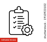 clipboard and gear icon....   Shutterstock .eps vector #1910923102