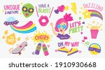 cute and fun fashionable... | Shutterstock .eps vector #1910930668