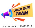 banner join our team. search... | Shutterstock .eps vector #1910953912