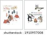 nordic style poster for kids...   Shutterstock .eps vector #1910957008