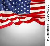 closeup of american flag on... | Shutterstock . vector #191096936
