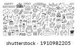 big celebration clipart set....   Shutterstock .eps vector #1910982205