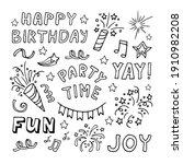 big celebration clipart set.... | Shutterstock .eps vector #1910982208