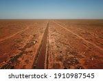 Rail Across The Flat Desert...