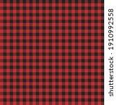 red and black lumberjack...   Shutterstock .eps vector #1910992558