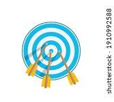 target icons. arrow hitting... | Shutterstock .eps vector #1910992588