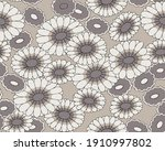 seamless floral tile fabric...   Shutterstock .eps vector #1910997802