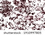 seamless floral tile fabric...   Shutterstock .eps vector #1910997805