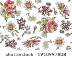 seamless floral tile fabric...   Shutterstock .eps vector #1910997808