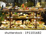 Pastry Shop Display Window Of...