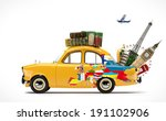 travelling by car. famous... | Shutterstock . vector #191102906