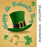 green st. patrick's day hat... | Shutterstock .eps vector #191109932
