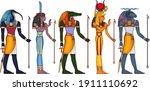 egyptian ancient symbol... | Shutterstock .eps vector #1911110692