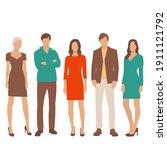 set of young men and women ...   Shutterstock .eps vector #1911121792