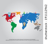 map and point vector | Shutterstock .eps vector #191112962