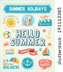 summer labels and design... | Shutterstock .eps vector #191113385
