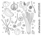set of vegetables vector...   Shutterstock .eps vector #1911135535