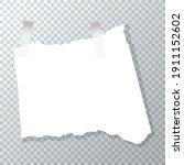 torn piece of crumpled paper.... | Shutterstock .eps vector #1911152602