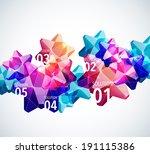 vector 3d polygonal graphics | Shutterstock .eps vector #191115386