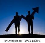 business increase | Shutterstock . vector #191118398