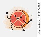 an illustration of cute orange...   Shutterstock .eps vector #1911186205