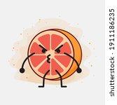 an illustration of cute orange...   Shutterstock .eps vector #1911186235