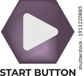 cartoon start button game...