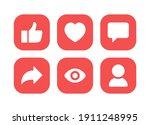 social media icon vector....   Shutterstock .eps vector #1911248995