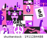 international women s day... | Shutterstock .eps vector #1911284488