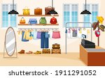 fashion clothes store... | Shutterstock .eps vector #1911291052