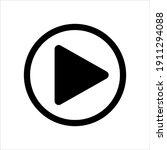 play button vector icon  play... | Shutterstock .eps vector #1911294088
