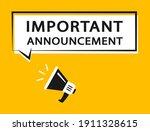 important announcement.... | Shutterstock .eps vector #1911328615