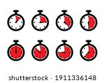 stopwatch  timer icons set....