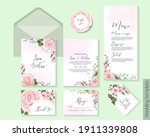 floral template for wedding... | Shutterstock .eps vector #1911339808