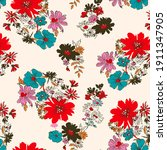 retro wild flower pattern in... | Shutterstock .eps vector #1911347905