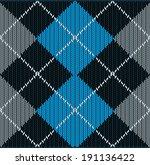 vector seamless argyle sweater...   Shutterstock .eps vector #191136422