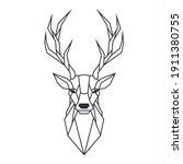 Icon Polygonal Deer. Image...