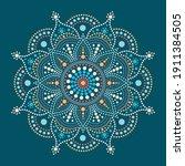 dot painting meets mandalas....   Shutterstock .eps vector #1911384505