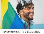 Happy Homosexual Man Having Fun ...
