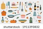 crockery  kitchenware tools for ... | Shutterstock .eps vector #1911393832