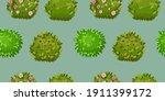 green blooming bush vector...   Shutterstock .eps vector #1911399172